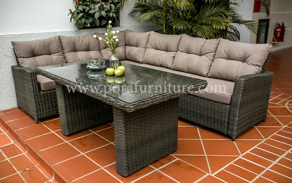 Go Rusty with Rattan Living Room Furniture.