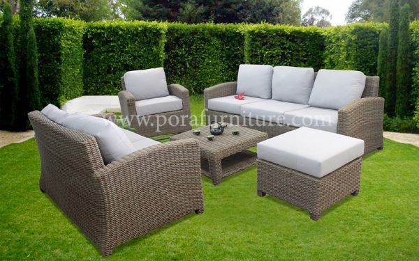 Vietnamese Wicker Furniture Offers Neutral Color Match Inside Or On Patio